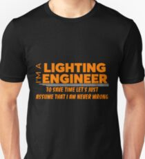 LIGHTING ENGINEER Unisex T-Shirt