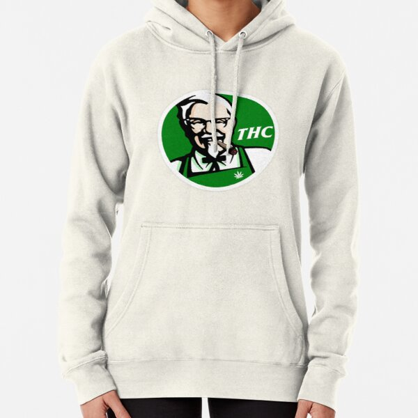 KFC PARODY THC Weed. Pullover Hoodie