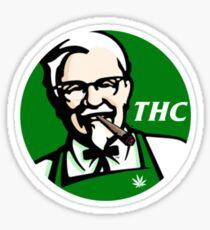 Pegatina KFC PARODY THC Weed.