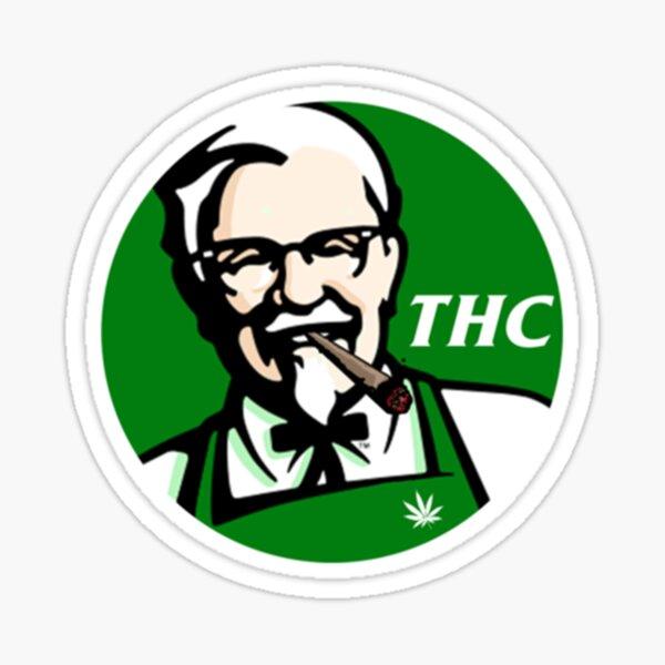 KFC PARODY THC Weed. Pegatina