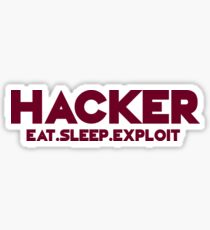 Hacker - Logo Sticker