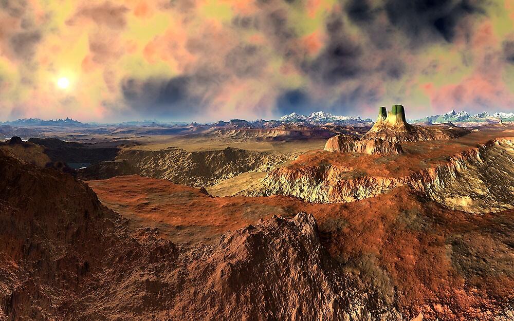 Burning Badlands Beyond by Randy Bufano