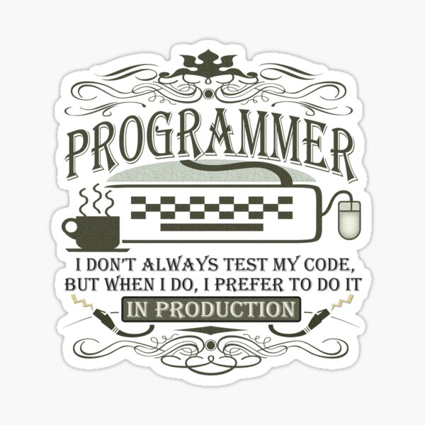 Production Programmer Sticker