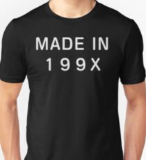 Made in 199X - Born in the 90s Nineties Slim Fit T-Shirt