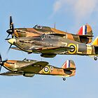 Three Hurricane Is at Old Warden by Colin Smedley