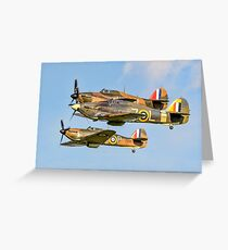 Three Hurricane Is at Old Warden Greeting Card