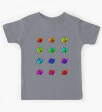 Gradient Rainbow Roses Kids Tee