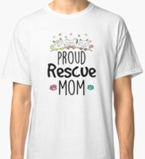 Proud Rescue Mom White Classic T-Shirt