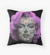 Marilyn Sugarskull Throw Pillow