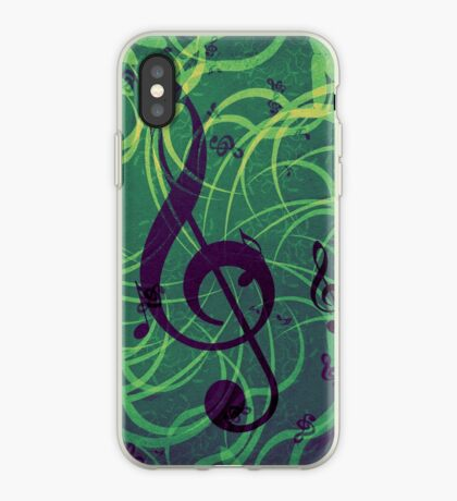 Musik Blumen Hintergrund iPhone-Hülle & Cover