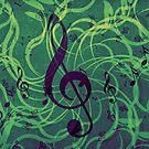 Musik Blumen Hintergrund von AnnArtshock
