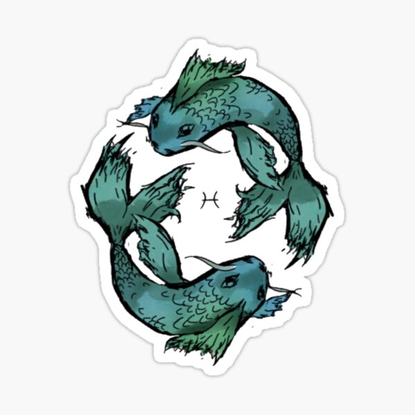 Pisces fish Sticker