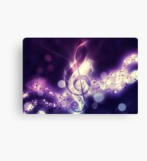 Glowing music background Canvas Print