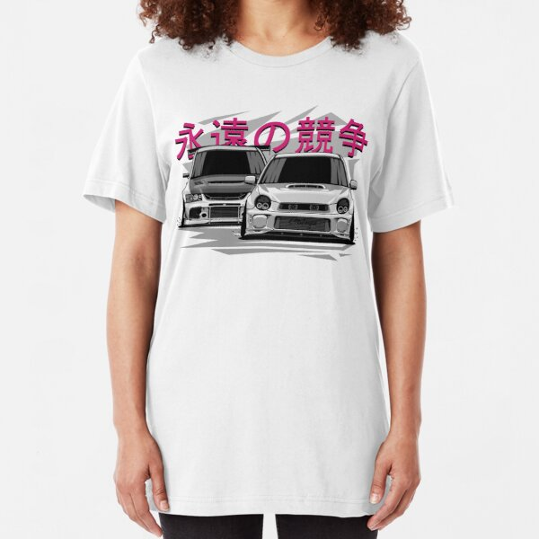 Impreza STI vs Lancer Evolution Slim Fit T-Shirt
