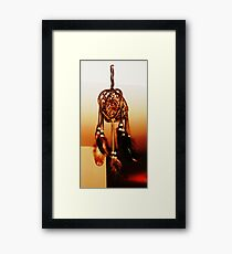 only let the good dreams fall Framed Print