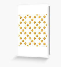 Golden polka dot  Greeting Card