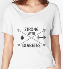Strong with Diabetes (black arrows) Women's Relaxed Fit T-Shirt