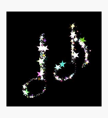 Musiknoten aus leuchtenden Sternen Fotodruck