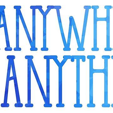 Überall gehen, alles tun (blau) von its-anna
