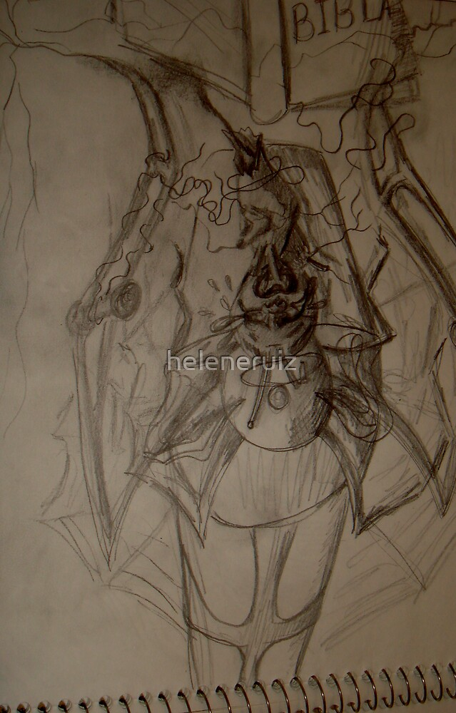 """sketches from my sketchbook during my """"healing process""""12 by helene ruiz"""