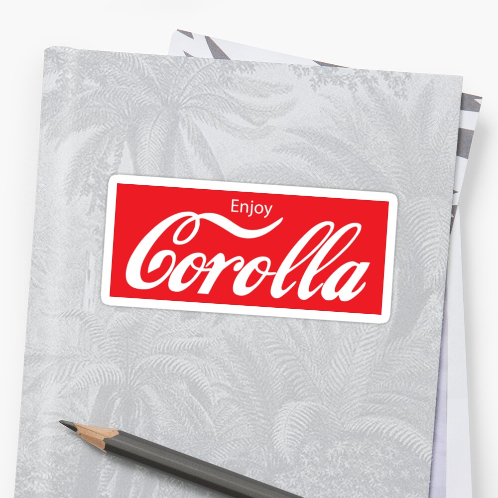 Enjoy corolla stickers
