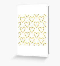 Golden hearts Greeting Card