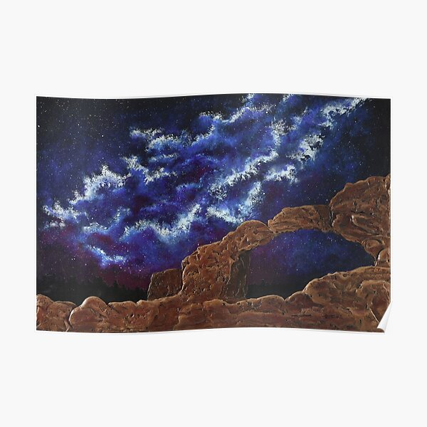 Galaxies and Arches Poster