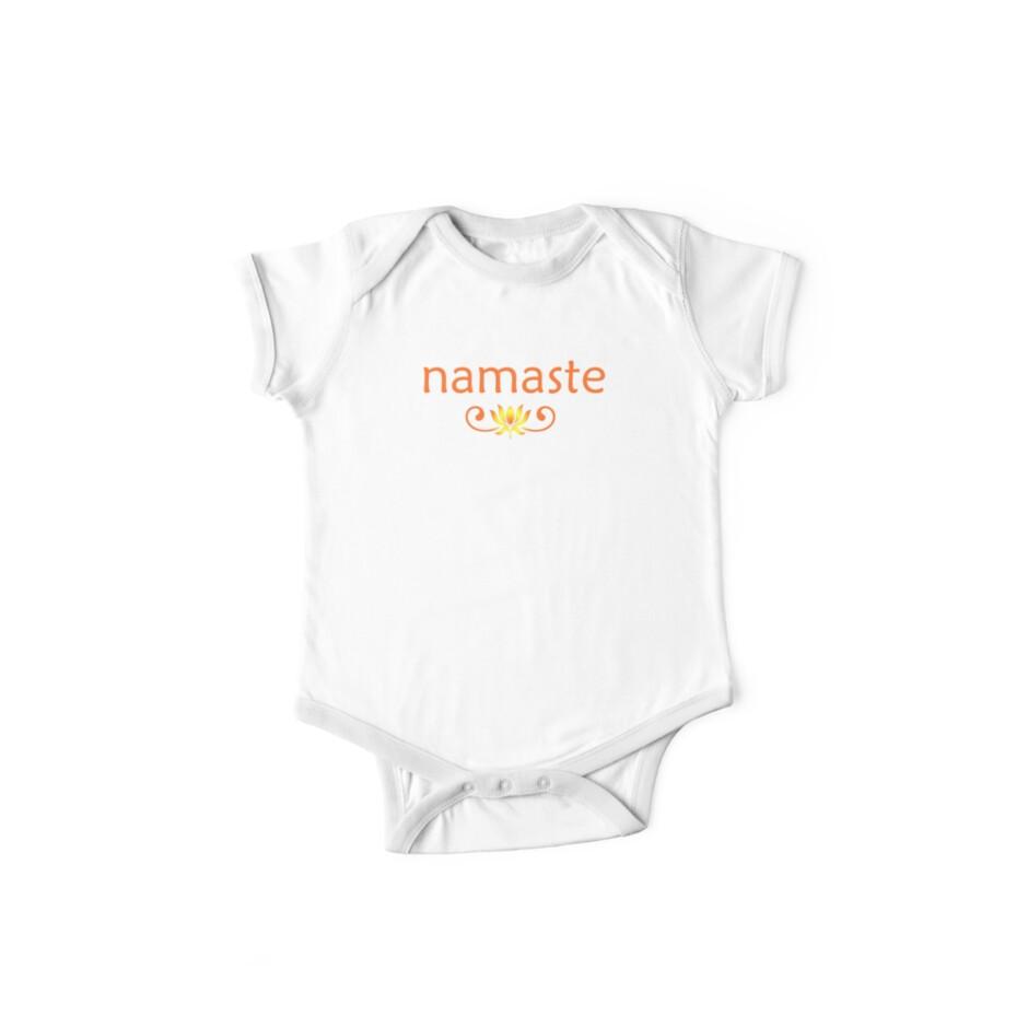 Orange Namaste by mindofpeace