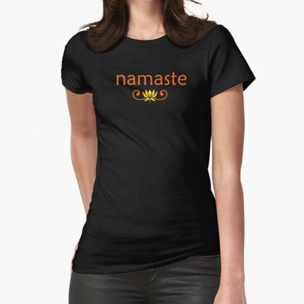Orange Namaste Fitted T-Shirt