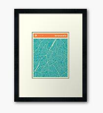 BRUSSELS MAP Framed Print