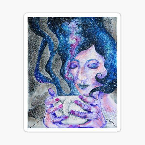 Silence - Peaceful Night Coffee Galaxy  Sticker