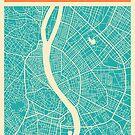 BUDAPEST MAP by JazzberryBlue