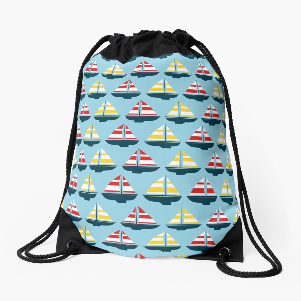 Little sailboats Drawstring Bag