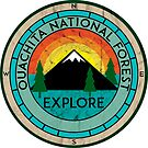 OUACHITA NATIONAL FOREST ARKANSAS HOT SPRINGS LAKE MOUNTAINS EXPLORE CAMPER  by MyHandmadeSigns