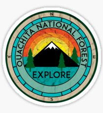 OUACHITA NATIONAL FOREST ARKANSAS HOT SPRINGS LAKE MOUNTAINS EXPLORE CAMPER  Sticker
