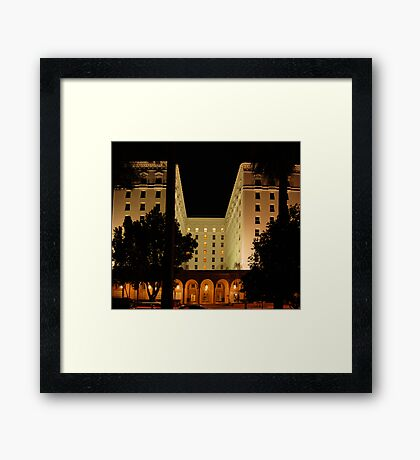 The Old Senator Hotel, Downtown Sacramento, CA Framed Print