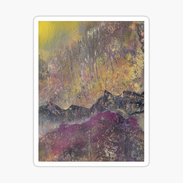 Sunshine over craggy landscape Sticker