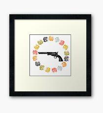 Gun in ring o roses Framed Print
