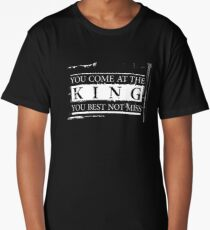 """You Come at the King, You Best Not Miss"" - The Wire (Light) Long T-Shirt"
