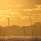 Wind Turbine During Sunset   Wantagh, New York by © Sophie W. Smith