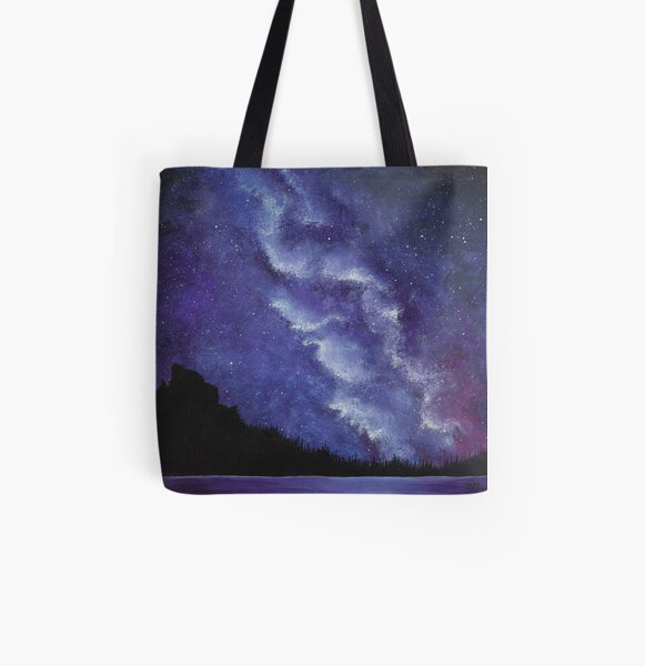 Milky Way Over the Rockies All Over Print Tote Bag