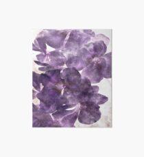 Purple Blooming Art Board