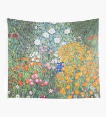Flower Garden by Gustav Klimt Wall Tapestry