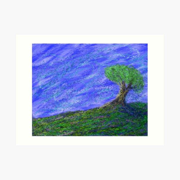 The Breezy Hilltop Art Print