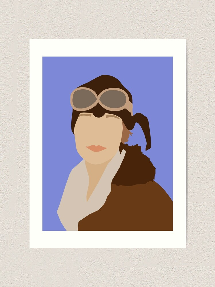 Alternate view of Amelia Earhart Art Print