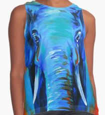 Vibrant Elephant Colorful Painting Contrast Tank