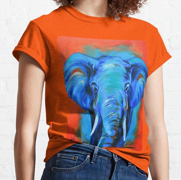 Vibrant Elephant Colorful Painting Classic T-Shirt