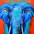 Vibrant Elephant Colorful Painting by Allise Noble