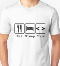 Eat Sleep & Code Programming Computer Programmer Tshirt T-Shirt