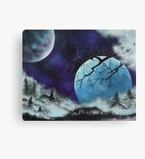 Two Moons and Mist Canvas Print